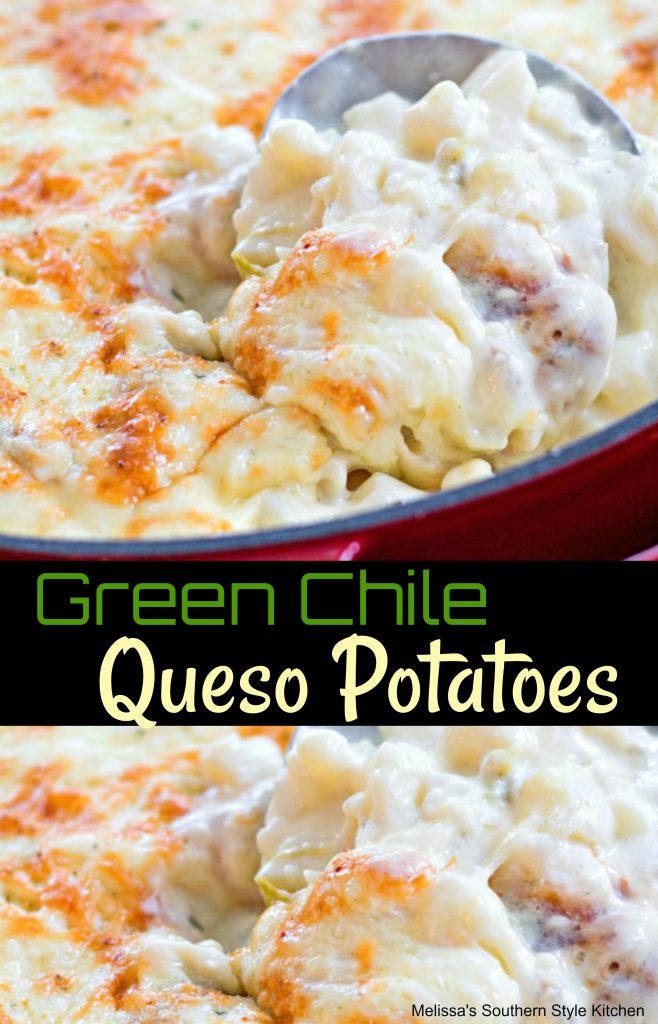 Green Chile Queso Potatoes