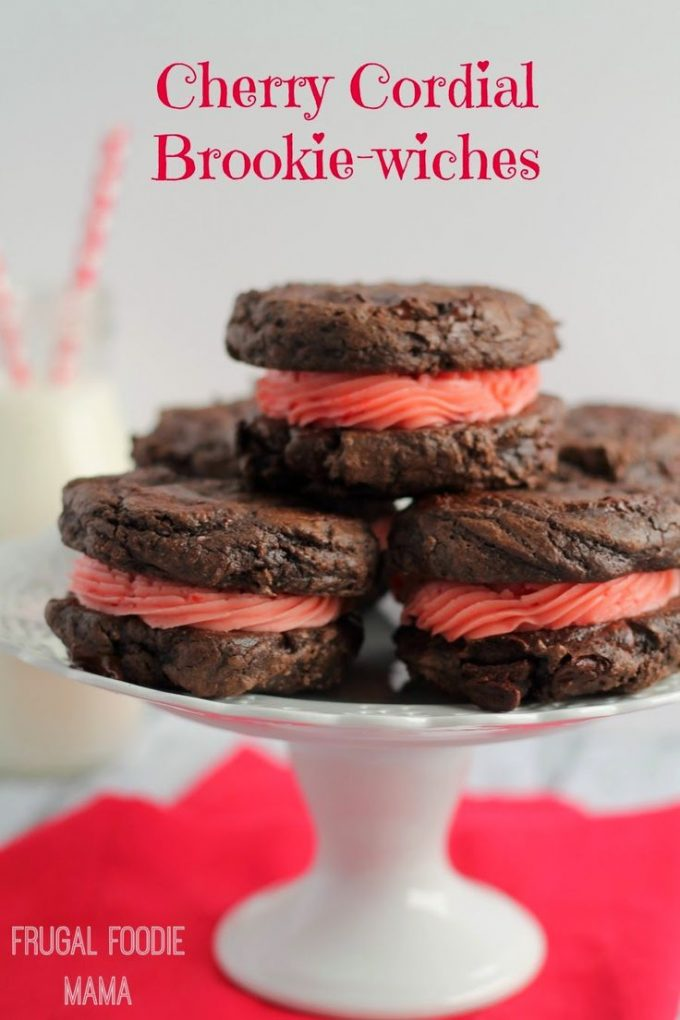 Cherry Cordial Brookie-wiches