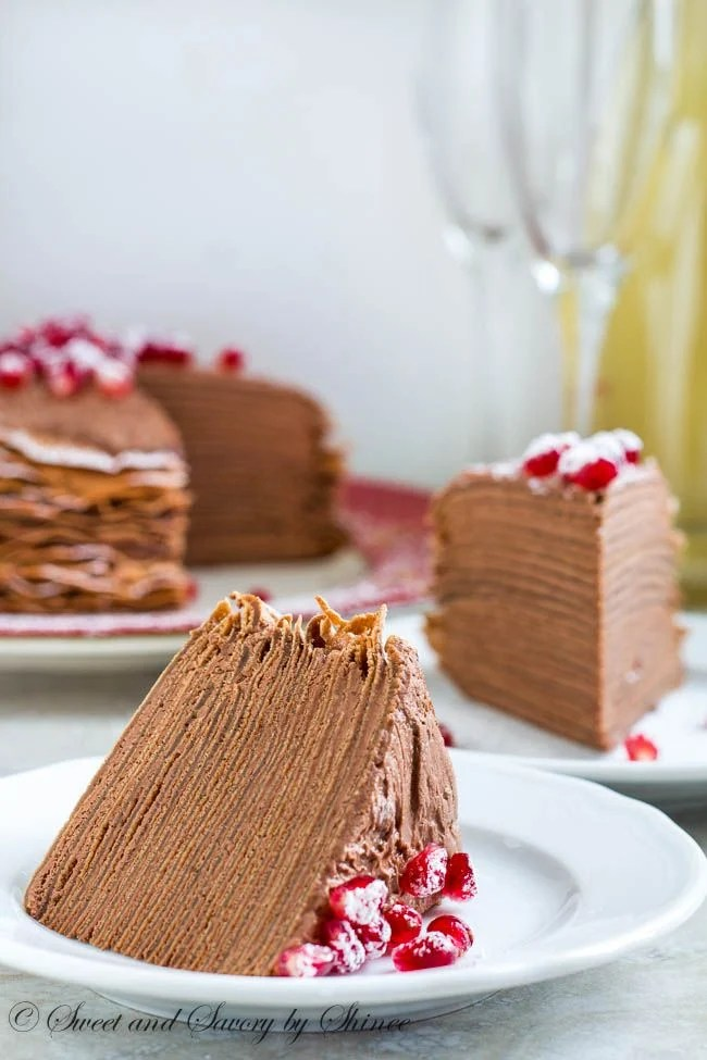 Chocolate Mousse Crepe Cake