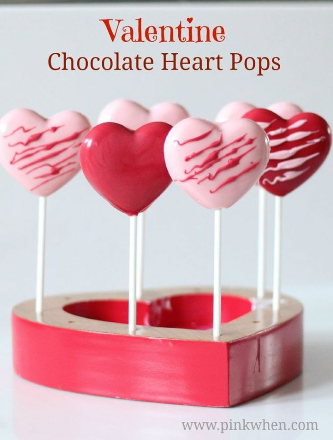 Easy Valentine Chocolate Heart Pops