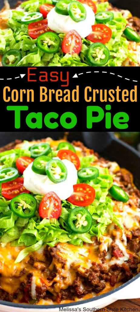 Easy Corn Bread Crusted Taco Pie