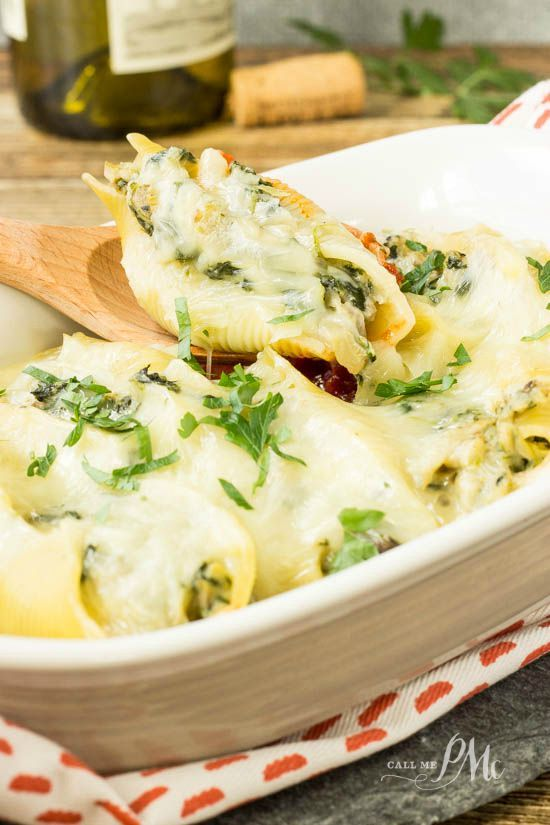 Spinach and Cheese Stuffed Pasta