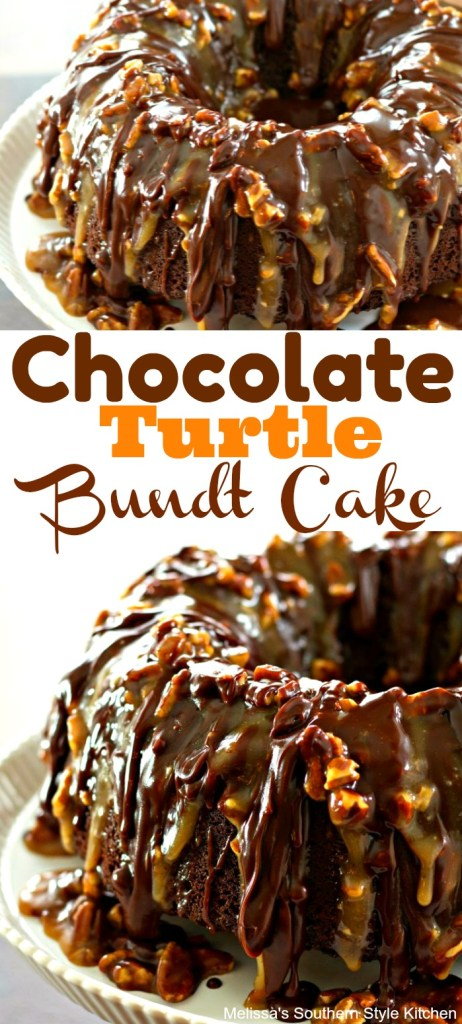 Chocolate Turtle Bundt Cake