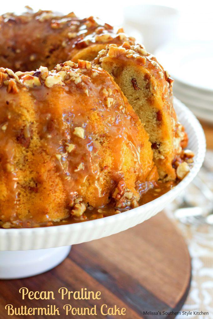 Pecan Praline Buttermilk Pound Cake