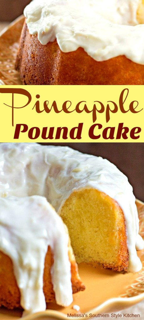 Pineapple Pound Cake with Cream Cheese Glaze