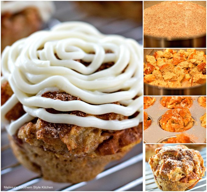 Cinnamon Roll French Toast Muffins