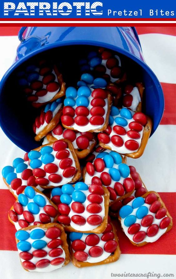 Patriotic Pretzel Bites