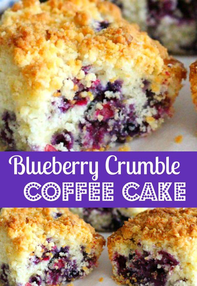 Blueberry Crumble Coffee Cake