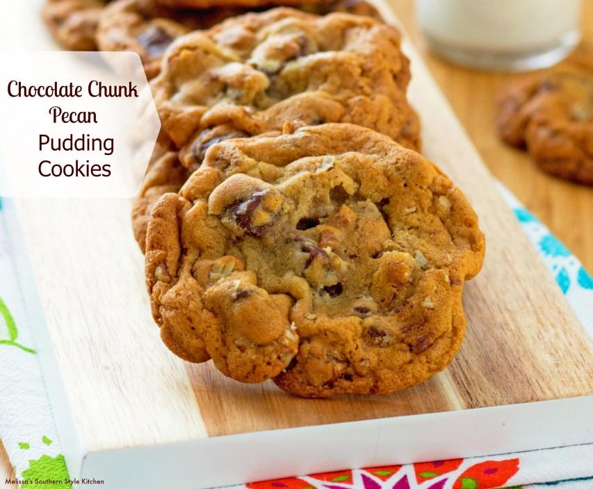 Chocolate Chunk Pecan Pudding Cookies