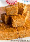 No-Bake Cinnamon Spice Crunch Bars