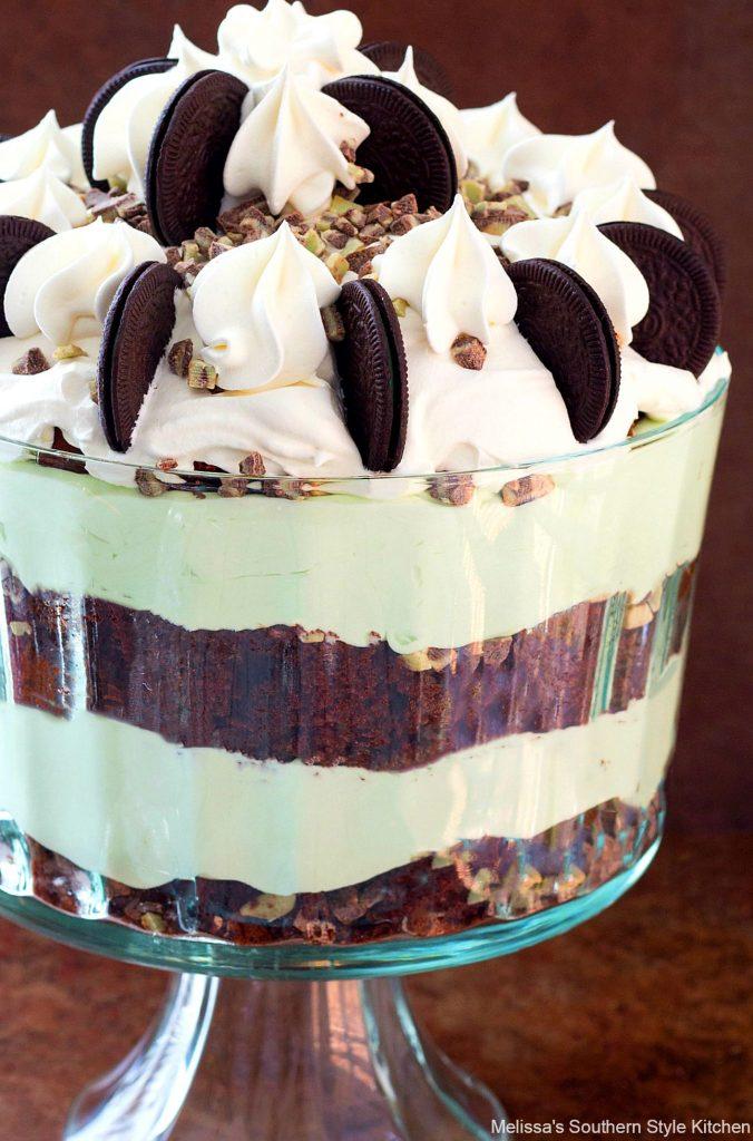 Chocolate Fudge Grasshopper Trifle