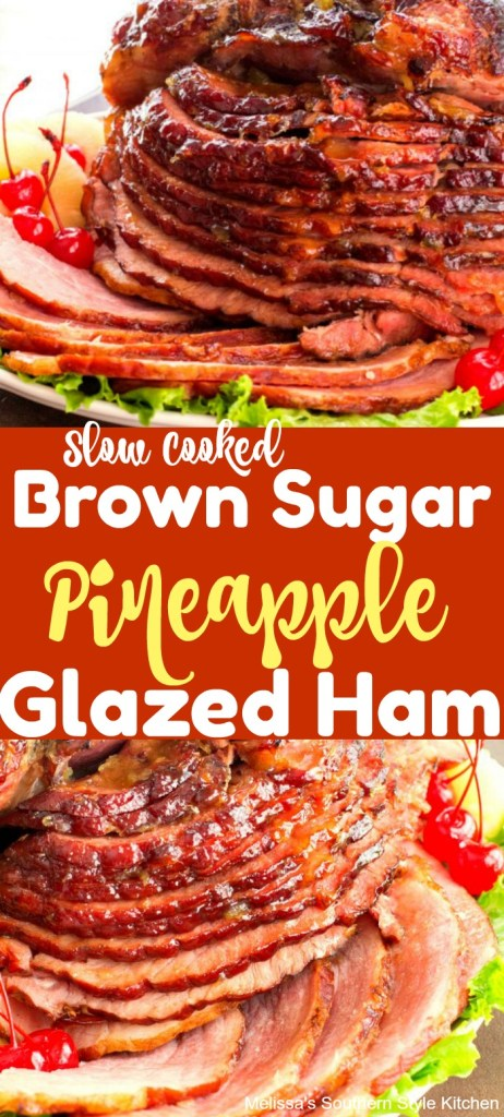 Slow Cooked Brown Sugar Pineapple Glazed Ham