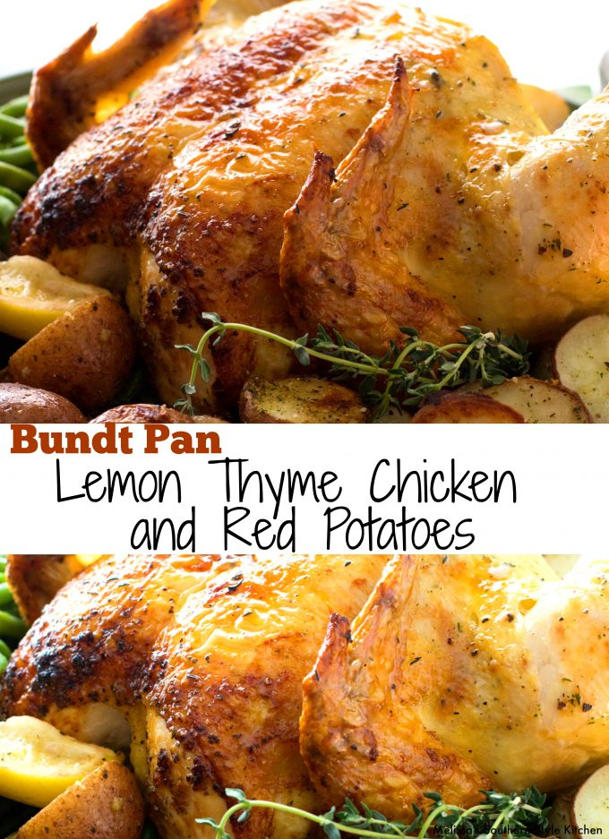 Bundt Pan Lemon Thyme Chicken and Red Potatoes