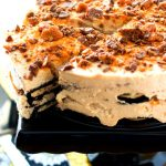 No-Bake Chocolate Peanut Butter Refrigerator Cake