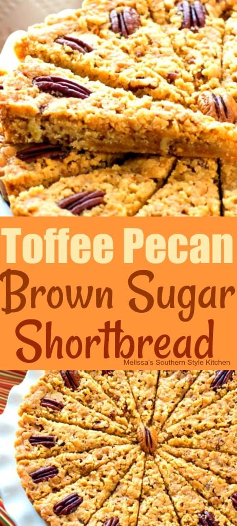Toffee Pecan Brown Sugar Shortbread