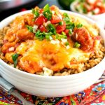 Crockpot Cheesy Salsa Chicken