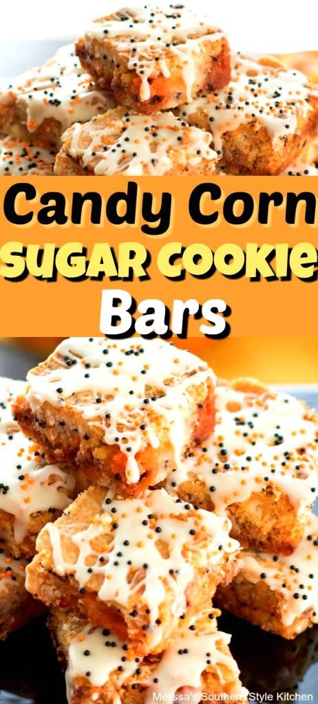 Candy Corn Sugar Cookie Bars