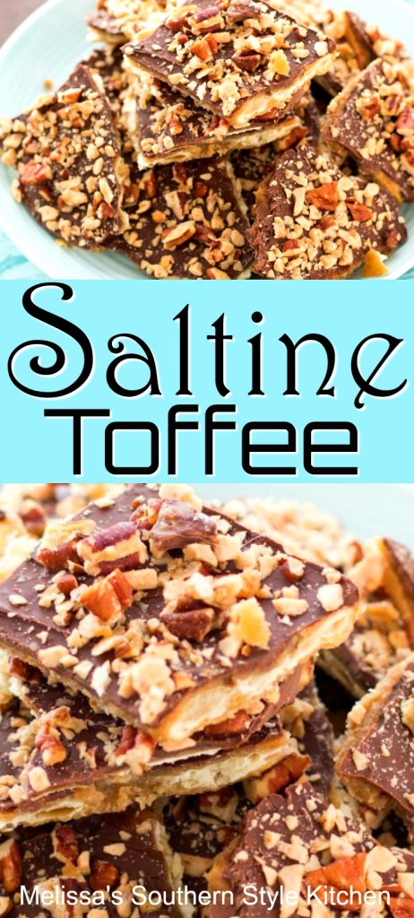 Saltine Toffee with Pecans and Toffee Bits
