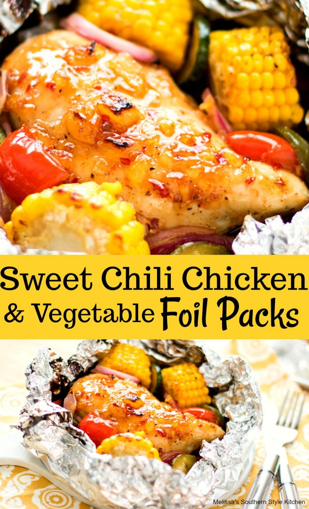 Sweet Chili Chicken and Vegetable Foil Packs