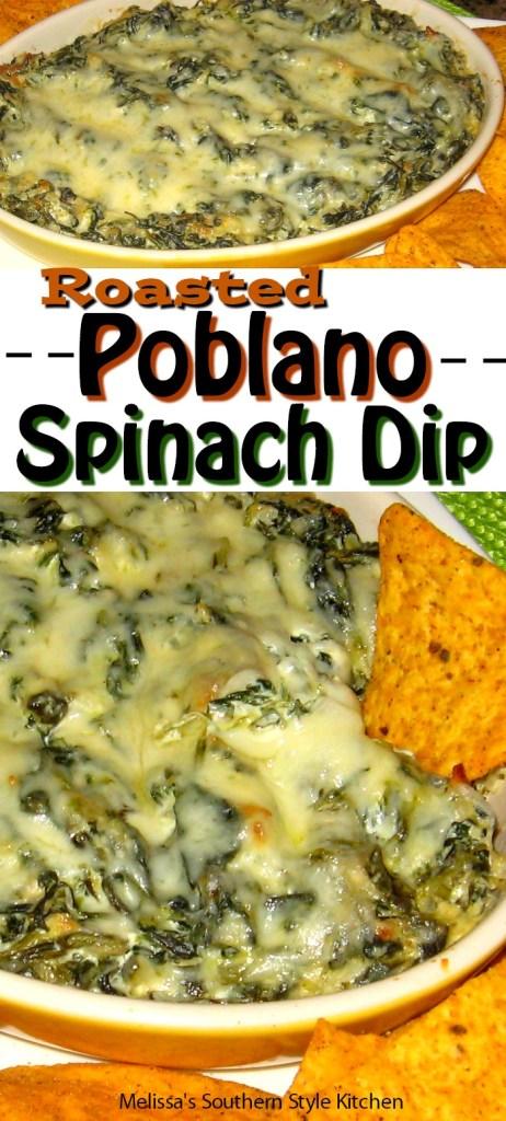 Roasted Poblano Spinach Dip
