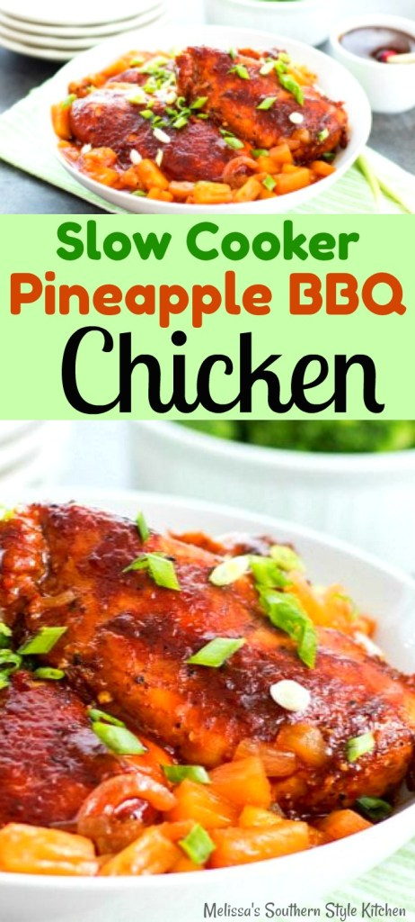 Slow Cooker Pineapple Barbecue Chicken