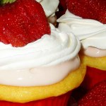 Strawberries And Cream Filled Cupcakes