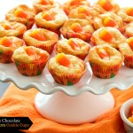 White Chocolate Candy Corn Cookie Cups