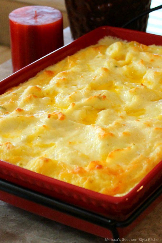 Baked Garlic Herb Mashed Potatoes