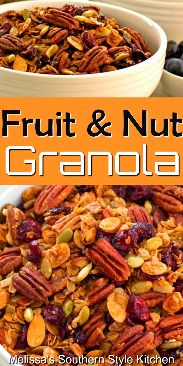 You can personalize this Easy Fruit and Nut Granola using your favorite fruit and nut flavor combination #fruitandnutgranola #granolarecipes #granola #fruit #nits #healthyfood #brunch #snacks #breakfast