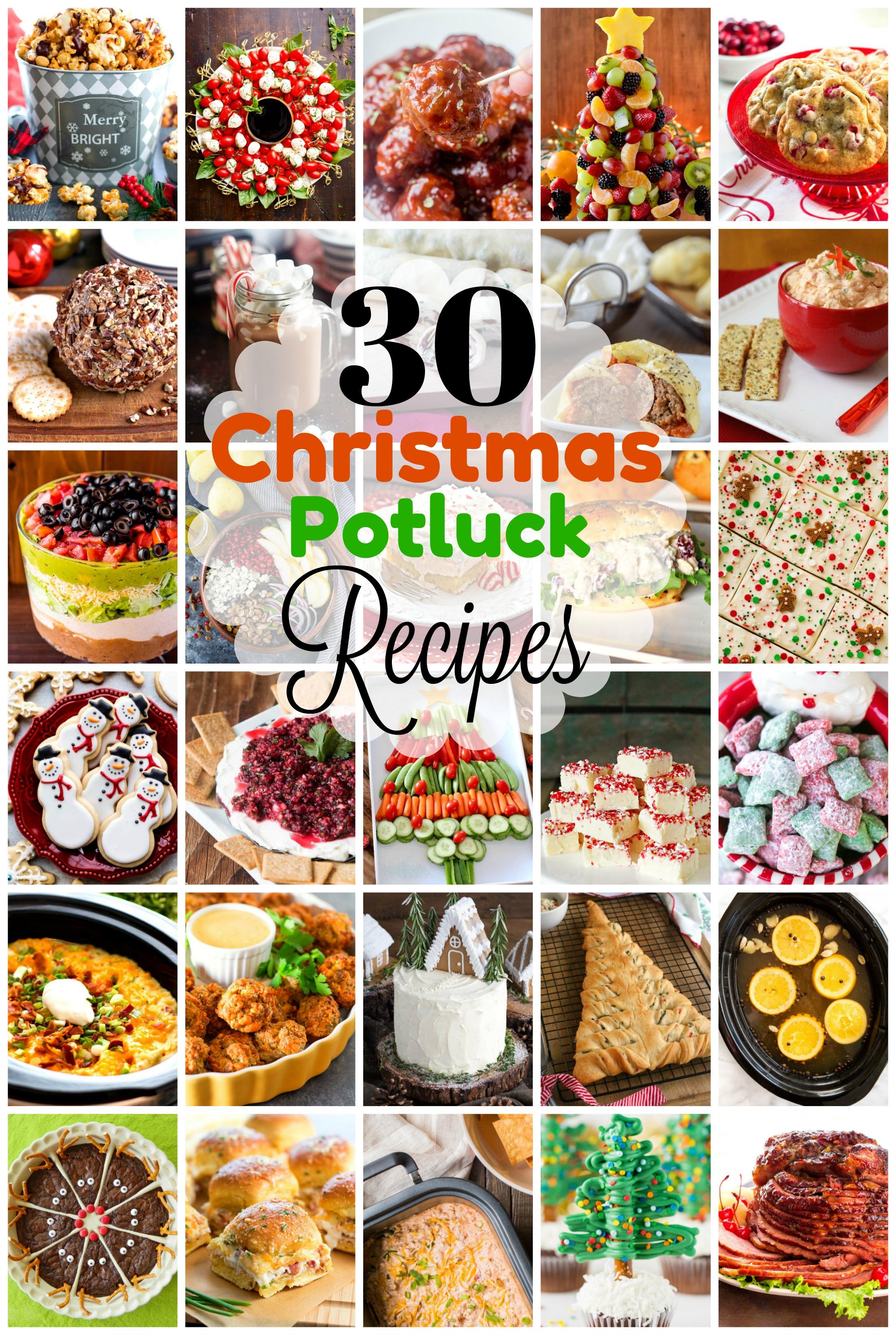 Christmas Potluck.30 Festive Dishes To Take To A Christmas Potluck