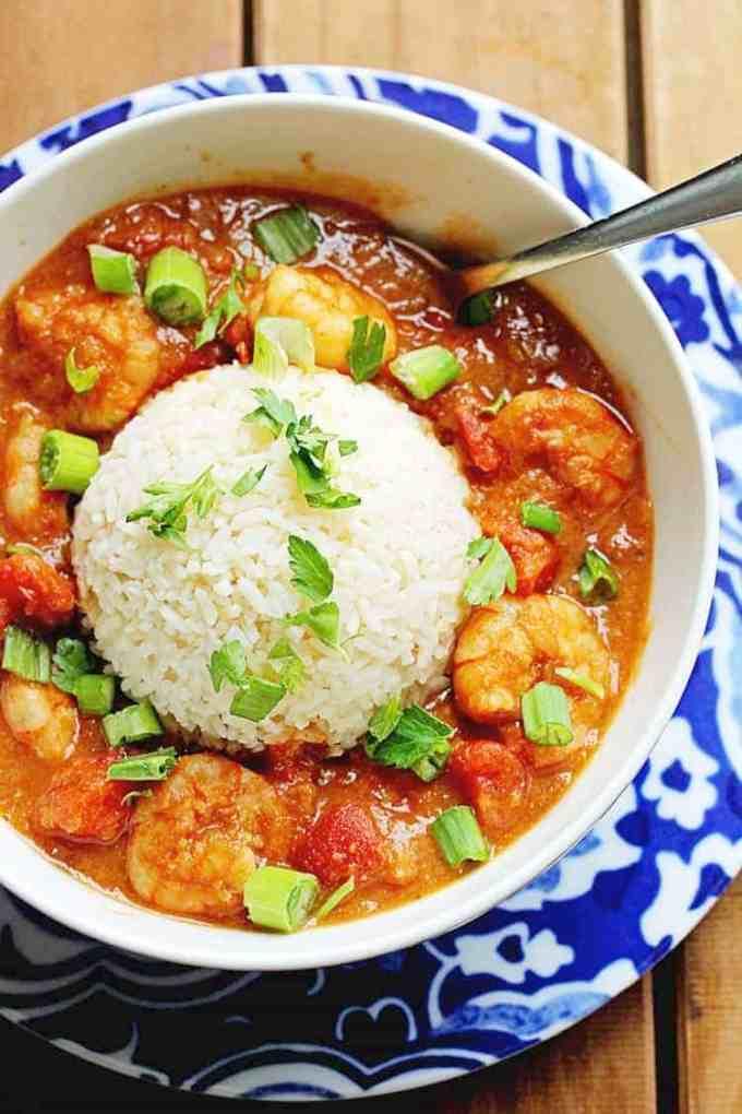 shrimp etouffee in a bowl