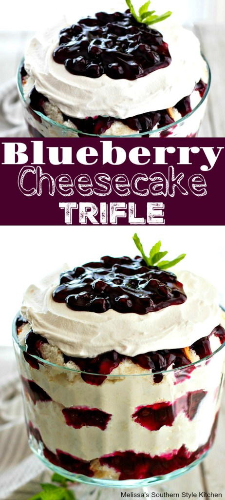 Easy Blueberry Cheesecake Trifle