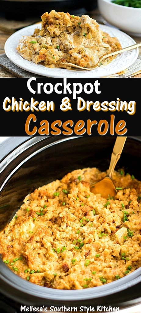 Crockpot Chicken And Dressing Casserole