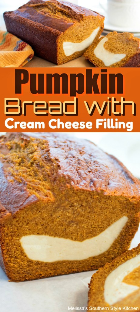 Pumpkin Bread with Cream Cheese Filling