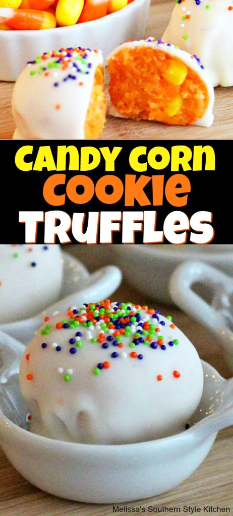 Candy Corn Cookie Truffles
