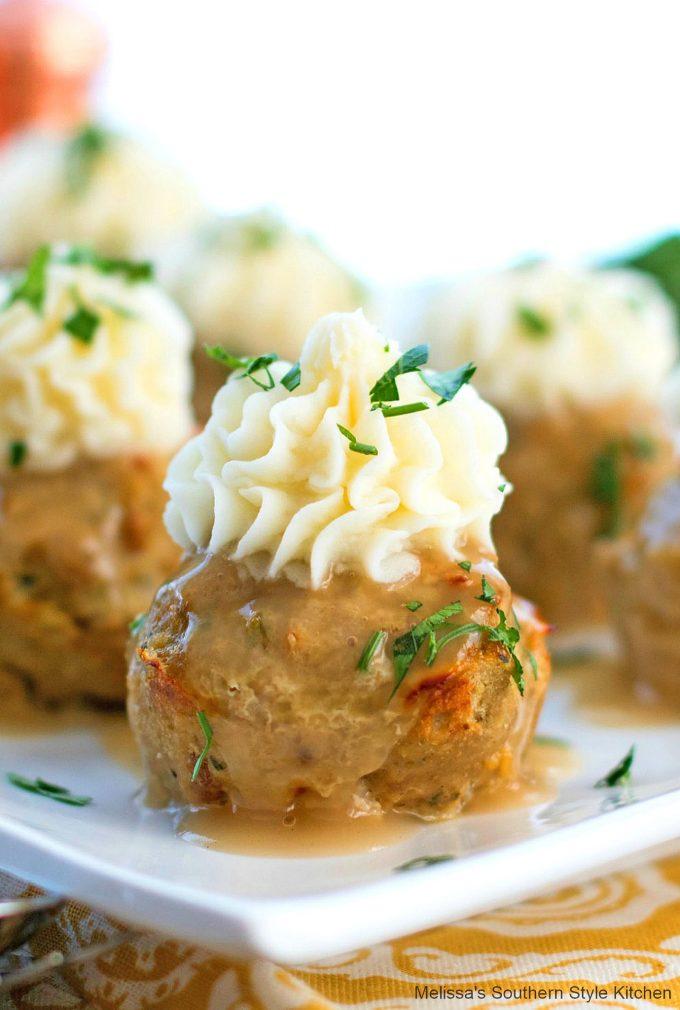 close-up turkey muffins