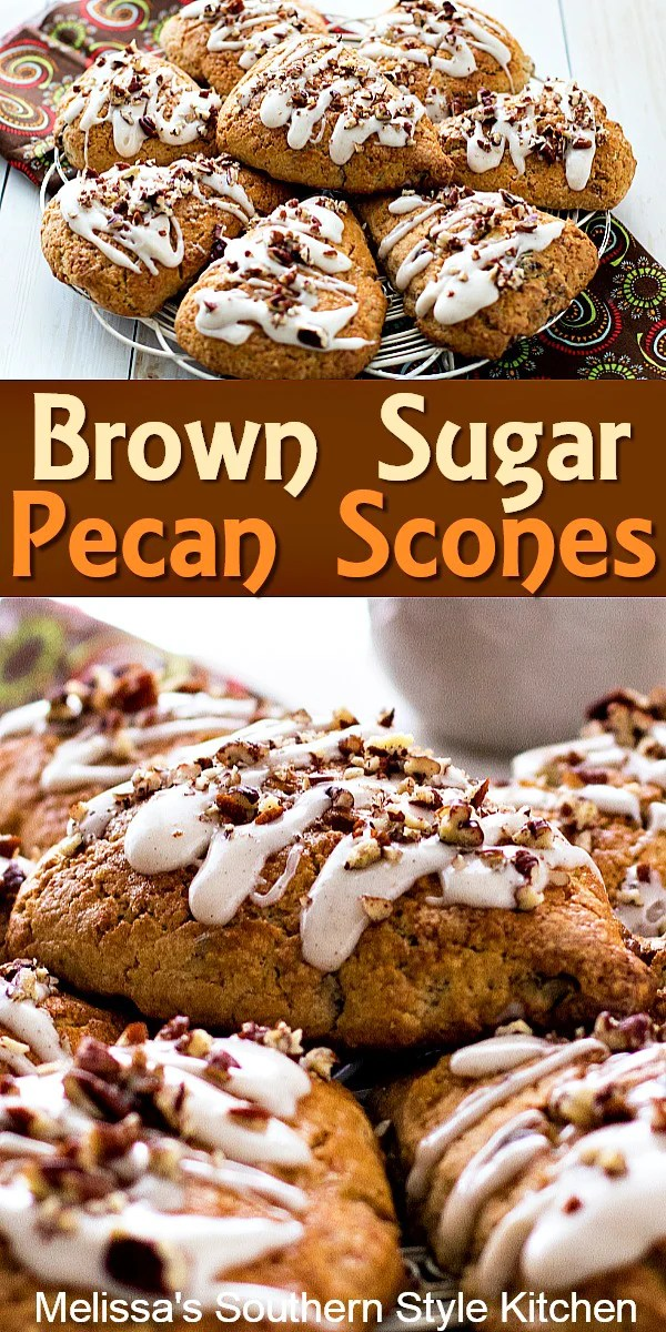 Brown Sugar Pecan Scones #scones #brownsugarpecanscones #holidaybrunch #desserts #teatime #easterbrunch #mothersdaybrunch #sweetsonesrecipes #southernfood #southernrecipes