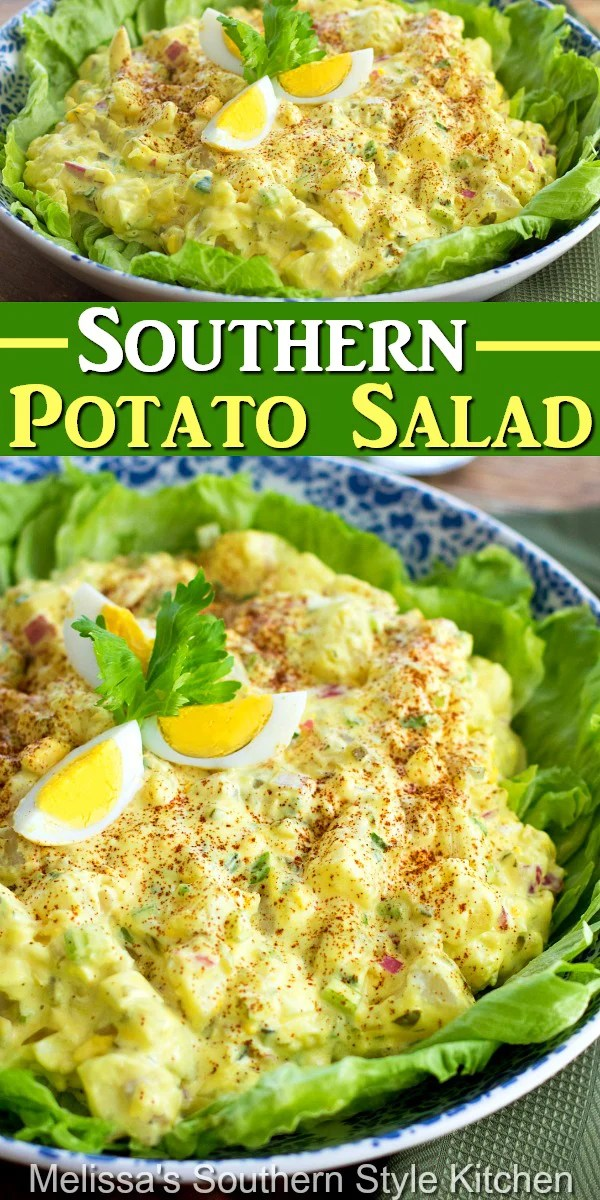 This delectable Southern Potato Salad is picnic ready #southernpotatosalad #potatosalad #potatorecipes #salad #saladrecipes #southernstyle #southernrecipes #southernfood #picnicfood #barbecuesides #Southernfood #southernrecipes