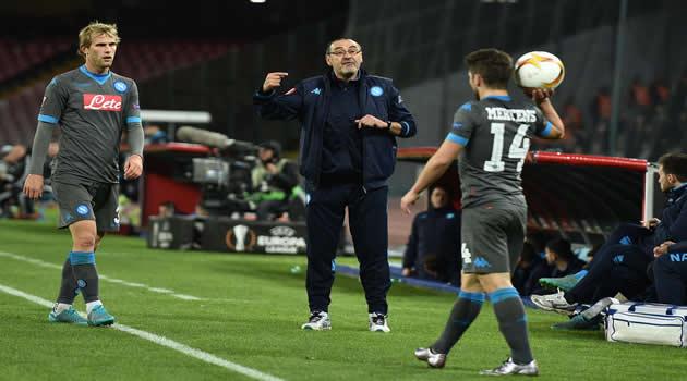 Napoli vs Legia Varsavia Strinic Sarri Mertens