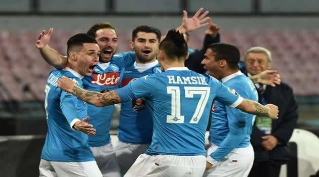 Napoli vs Inter - esultanza dopo il gol
