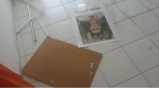 Frida Kahlo - atto vandalico