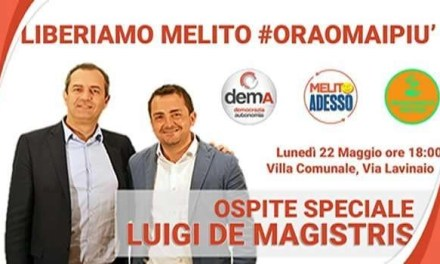 Luigi De Magistris a Melito per Lello Caiazza