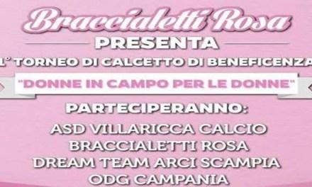 VILLARICCA, BRACCIALETTI ROSA: IN CAMPO PER RACCOGLIERE FONDI PER DONNE MALATE DI CANCRO