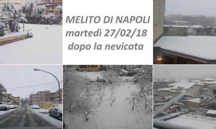 Melito, ordinanza sindacale e interventi per la nevicata  di ieri