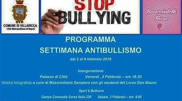 """Villaricca, in corso """"Stop Bullying"""" la settimana contro il bullismo"""