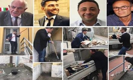 Comune senza soldi, amministratori operai puliscono e riparano le scuole