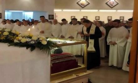 La teca con le spoglie di San Vincenzo Romano a Melito