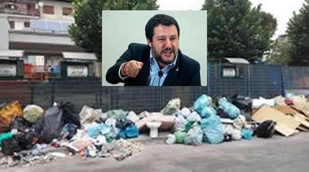 Salvini e i rifiuti