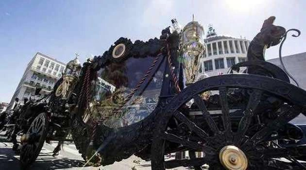 funerali Casamonica - carro funebre
