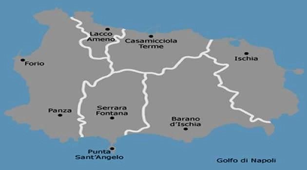 mappa isola Ischia